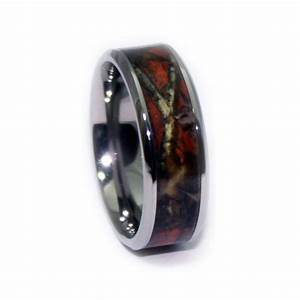 blaze orange camo wedding ring titanium orange band by With camo titanium wedding rings