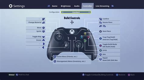 fortnite xbox    change   controller