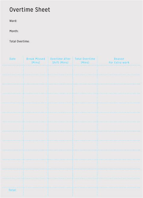 overtime sheet templates weekly monthly  excel