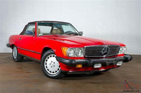 1988 Mercedes Benz 560sl No Reserve Red Over Tan