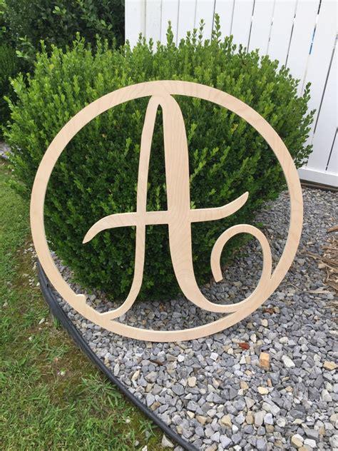 wooden circle single monogram letter wooden monogram letters home decor weddings