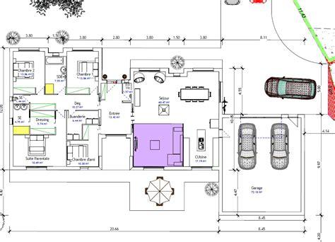 plan maison plain pied 4 chambres garage plan de maison plain pied 4 chambres avec garage