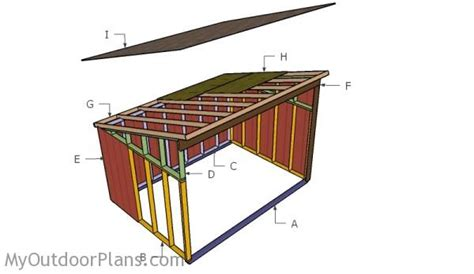10 X 14 Saltbox Shed Plans by 10x14 Horse Shelter Roof Plans Myoutdoorplans Free