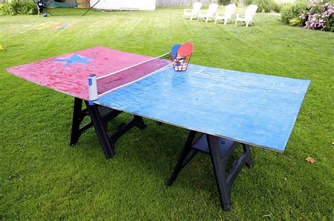 homemade ping pong table diy backyard games