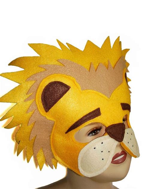 childrens safari animal lion felt mask craft felt