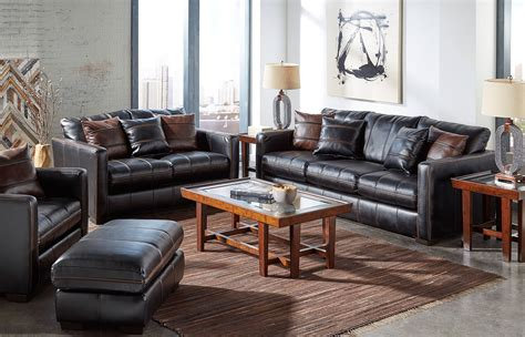 awesome tricks     black leather living room