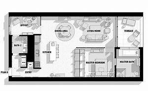 City loft floor plan interior design ideas for Urban loft floor plan