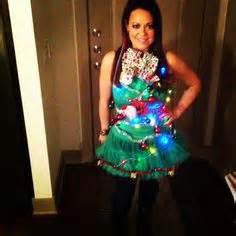 Tacky Christmas tree dress That I made