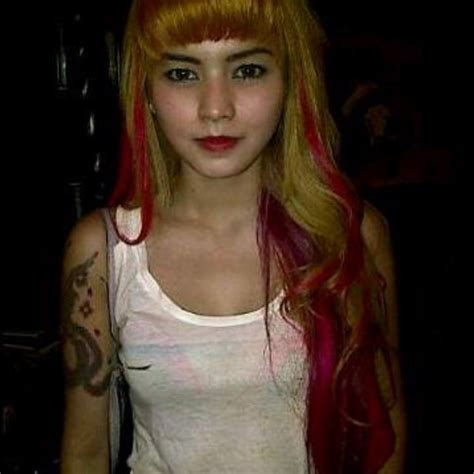 contoh rainbow hair coloring  dido salon