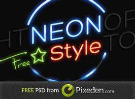 Neon Text Effect Free shop Brushes at Brusheezy