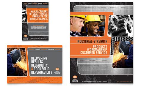 manufacturing engineering flyer ad template word