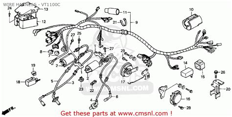 honda vt1100c shadow 1100 1995 s usa california wire harness vt1100c buy wire harness