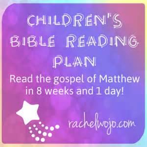 Free Bible Reading Plan for Children