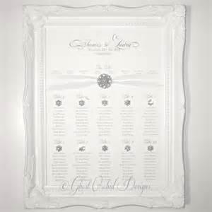 wedding table plan splendor table plan beautiful framed wedding seating plan sheer ribbon vintage brooch