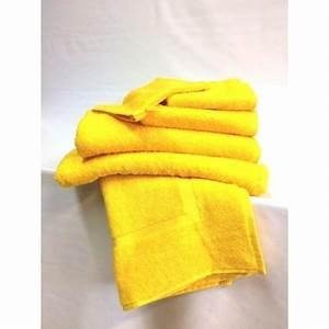 Drap De Bain 100x150 : drap de bain 100 x 150 cm couleur jaune ~ Teatrodelosmanantiales.com Idées de Décoration
