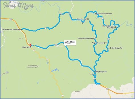 red river gorge hiking trail map toursmapscom