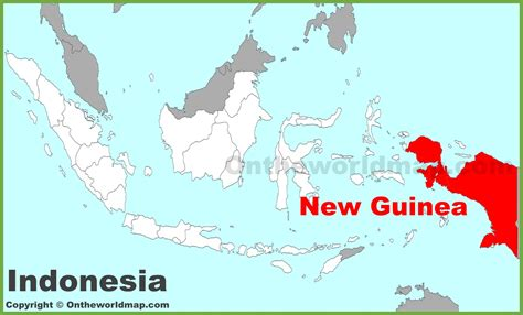 guinea location   indonesia map