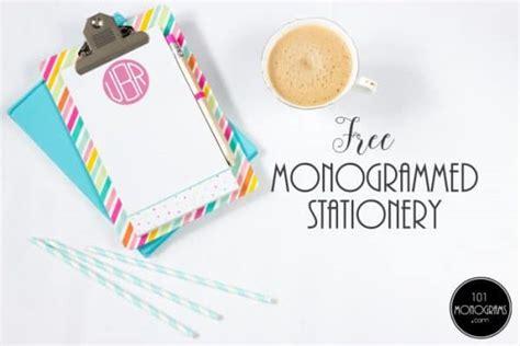 printable monogrammed stationery create