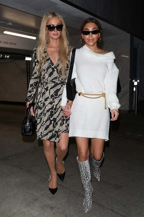 Chantel Jeffries and Paris Hilton hold hands as they leave ...