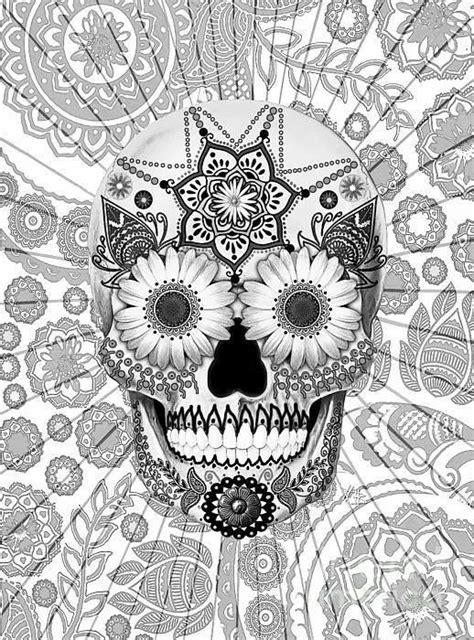 Day Of The Dead Masker Kleurplaat by Kleurplaten Doodshoofd Volwassenen Kleurplaat