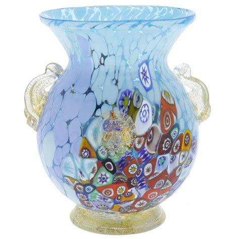 Glass Urn Vase by Murano Glass Vases Murano Glass Millefiori Urn Vase With