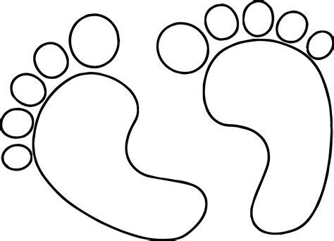baby boy footprint coloring page wecoloringpagecom