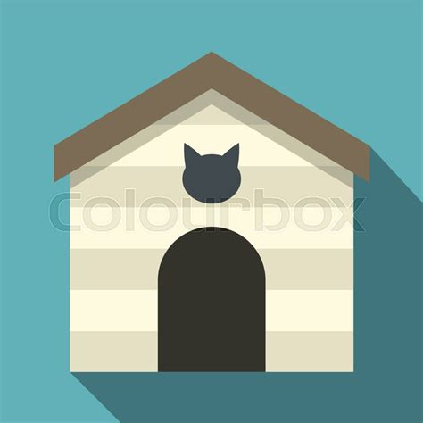 cat house icon flat illustration  cat house vector icon