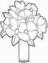 Coloring Bouquet Flower Pages Flowers Printable Preschool Sheets Template Clip Library Coloringhome Colorear Dibujos Para sketch template
