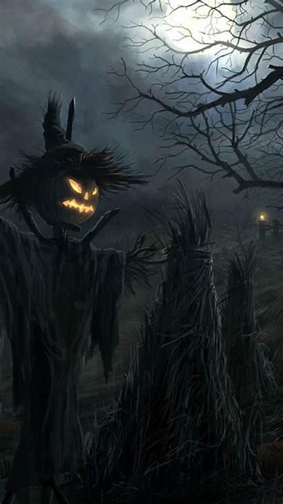 Halloween Phone Dark Wallpapers Scary Iphone Raven