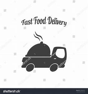 Platter Truck Fast Food Delivery Logo Stock Vector ...