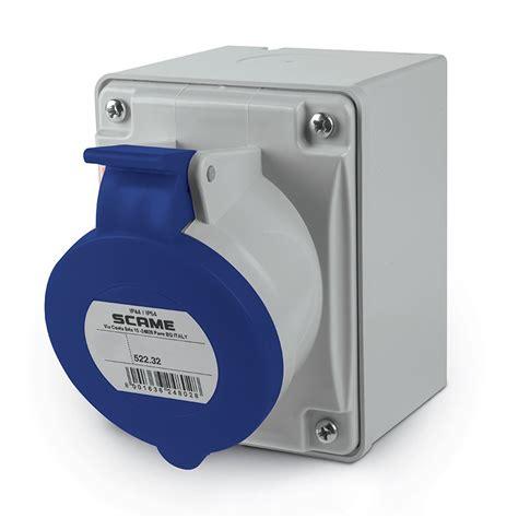 Mobile Mounting Socket 32a 2p 522 3253 scame socket outlet 2p e ip44 32a 6h 200 250v ele