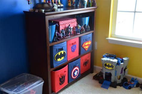 superhero nursery theme target canvas bins with diy
