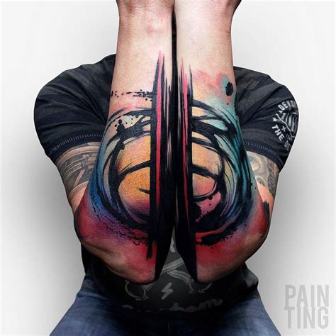 colorful abstract arm tattoos  tattoo design ideas