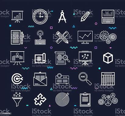 Management Project Icon Vector Tools Line Istock