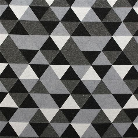curtain and upholstery fabric sided black white jacquard geometric animals