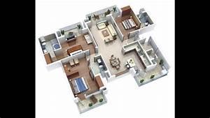 Three Bedroom Houseapartment Floor Plans Ideas Bungalow