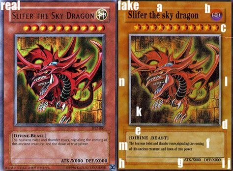 counterfeit slifer yu gi  card perishable press