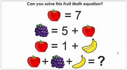 Math Fun Problem Solve Fruit