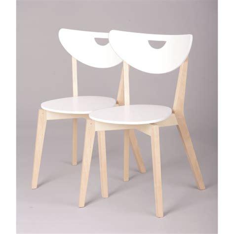 chaise blanche et bois miliboo chaises design bois et blanc laqué le achat
