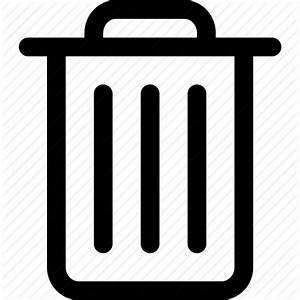 Bin, can, delete, garbage, junk, rubbish, trash icon ...