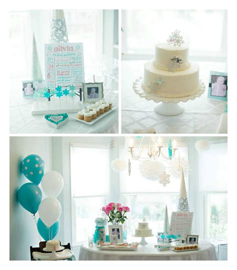 Cute Bridal Shower Themes by Kara S Party Ideas Winter Onederland Themed First Birthday