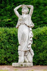 Weathered, Composition, Female, Garden, Statue