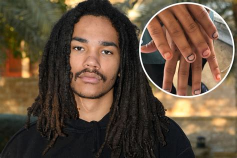 male celebrities embrace nail art  manicures   red
