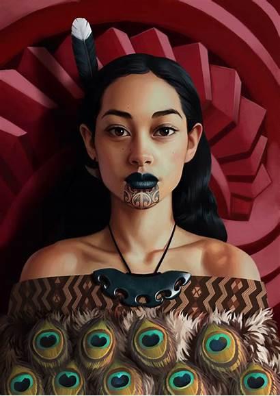 Maori Daniela Uhlig Digital Painting Deviantart Portraits