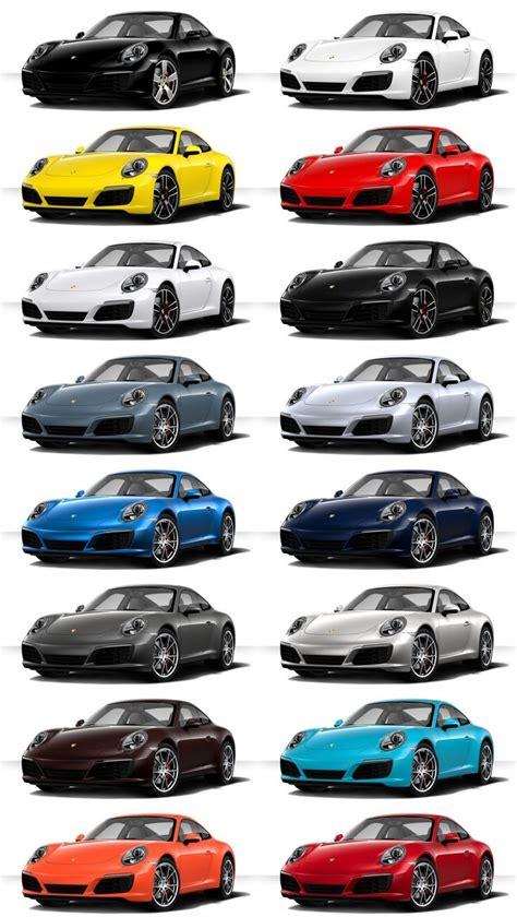 2017 porsche 911 carrera s colors visualizer 16 tile