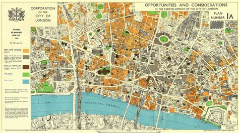 CITY OF LONDON.1943 survey. POST-WAR REDEVELOPMENT ...