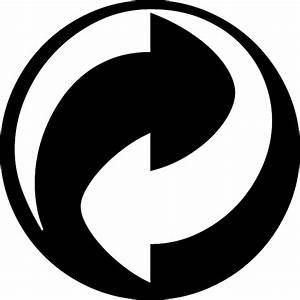 GREEN DOT RECYCLING VECTOR SYMBOL - Download at Vectorportal