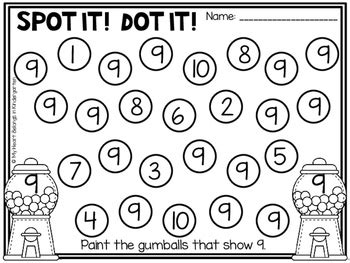 Number Recognition Pages For Math Centers By My Heart Belongs In Kindergarten