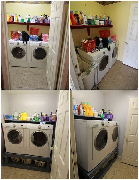 diy laundry pedestal diy washer and dryer pedestal small laundry room