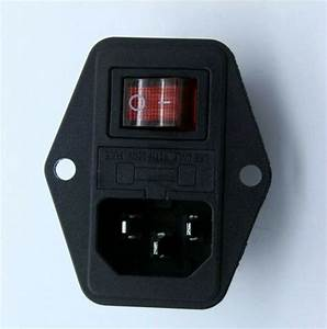 1 Pcs Iec320 C14 Ac Power Socket Type Switch Fuse Box